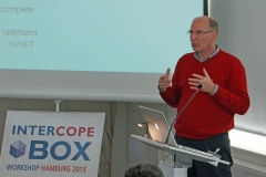 Jens presenting ambitious development plans