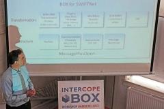 Olaf explaining the layered architecture ob BOX